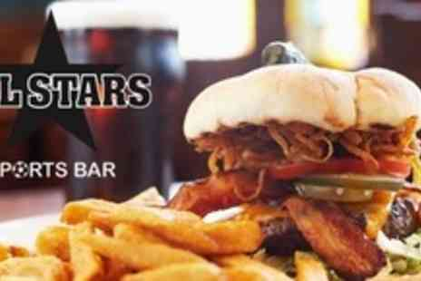 All Stars Sports Bar - Two Hours Pool Time For Two Plus Food and Drink - Save 70%