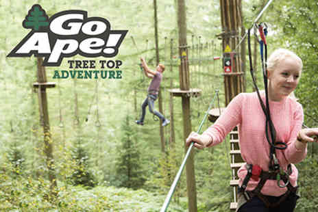Go Ape - Tree Top Adventure for Two  - Save 0%