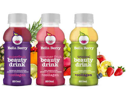 Ultra Beauty - Six 250ml bottles of Bella Berry collagen drink  - Save 50%