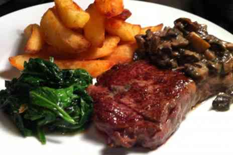 Chopin Grand Cafe - Two Course Steak Meal with a Soft Drink for Two  - Save 46%