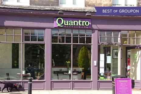 Quantro Restaurant - Two Course Lunch with Wine for Two   - Save 47%
