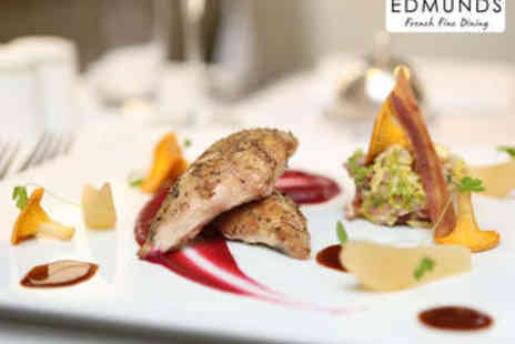 Edmunds Fine Dining - Three Course Early Evening Dinner for Two - Save 51%