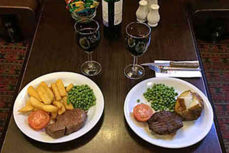 The Cheshire Line - Steak Meal for Two with Bottle of Wine - Save 50%