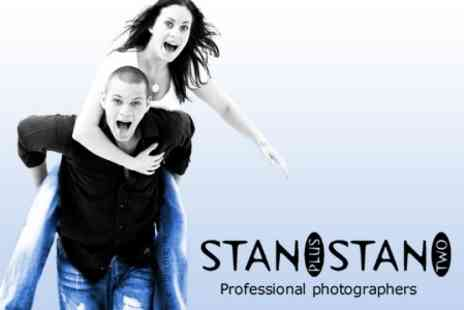 Stan Plus Stan Two - Family Photo Shoot Including One 15x12 Print and Four 8x6 or 7x5 Prints - Save 90%