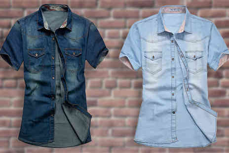Gift box bristol - Mens Denim Shirt Available in Two Colours - Save 69%