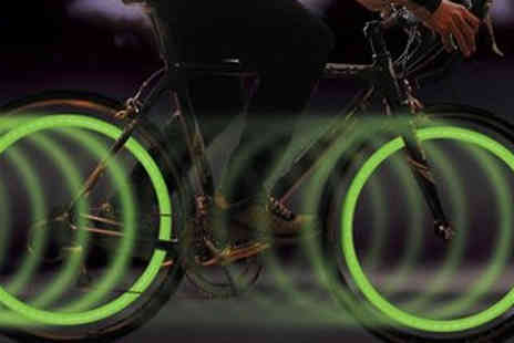 lolbargain - Coloured LED Wheel Lights Available in Four Colours - Save 70%