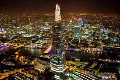 The Shard  - The View from The Shard with a Three Course Meal and Prosecco for Two - Save 0%