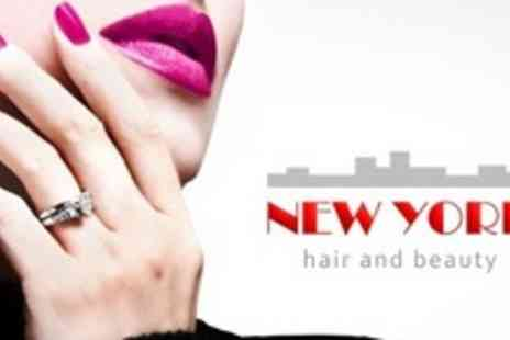 New York Hair and Beauty - Half Head Highlights or Full Head Colour, Plus Cut and Finish - Save 68%