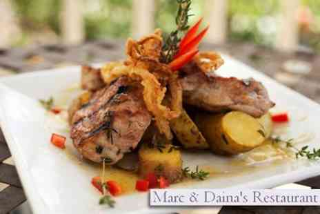 Marc and Daina's - Three Courses from the �la Carte Menu For Two - Save 58%