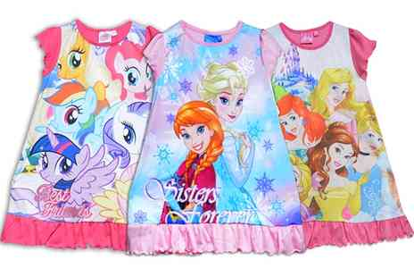 Groupon Goods Global GmbH - Girl's Character Themed Night Dresses in Choice of Design - Save 0%