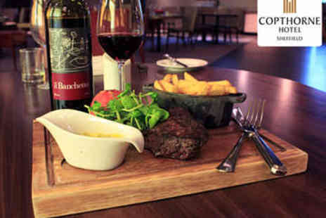 The Copthorne Hotel  - Rump Steak Meal with Bottle of Wine for Two - Save 0%