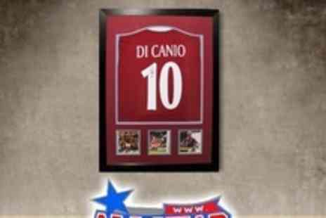 All Star Signings - Framed and Signed Paolo Di Canio Shirt With Certificate of Authenticity - Save 60%