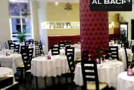 Al Bacio - Two Course Italian Meal with Prosecco for Two - Save 61%