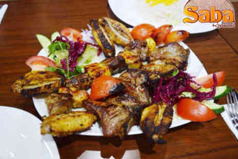 Saba Restaurant - Three Course Persian Meal for Two with Tea - Save 46%