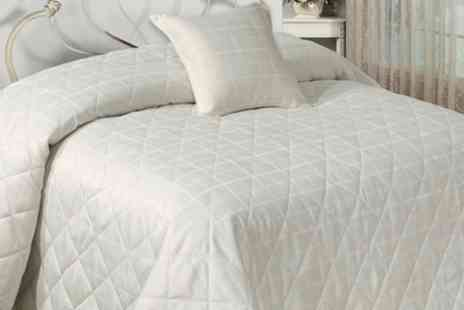 Groupon Goods Global GmbH - Jacquard Bedspread Set With Cushion Cover in Choice of Design and Colour - Save 55%