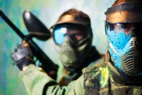 Skirmish Paintball - Paintball Pass with 100 Balls for 5, 10 or 20 People  - Save 93%