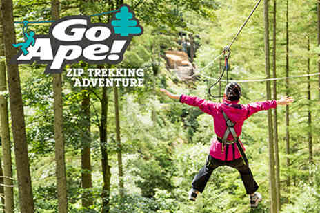 Go Ape - Zip Trekking Adventure for One  - Save 0%