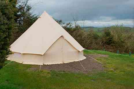 The Quiet Site - One Night Bell Tent Glamping Break for Two  - Save 0%