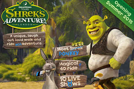 Shreks Adventure - Family Shreks Adventure London and Two Course Meal  - Save 0%