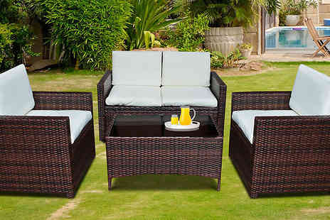 lolbargain limited - Four Piece Rattan Garden Furniture Set - Save 56%