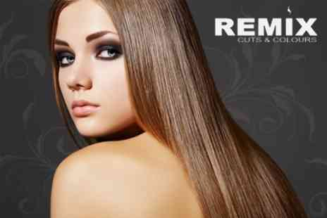 Remix Cuts and Colours - Brazilian Keratin Straightening Treatment Plus Wash, Cut and Blow Dry for £69 - Save 78%