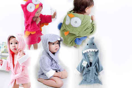 The Wholesale Group - Hooded baby bathrobe   - Save 50%