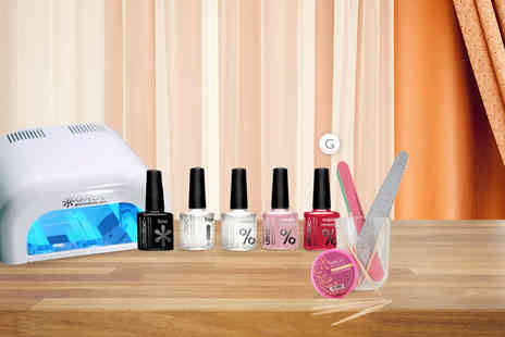 Wowcher Direct -  Mini LED gel nails starter kit with three colours  - Save 85%