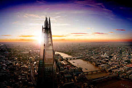 Central London Hotel - View from The Shard  Champagne Afternoon Tea and Thames River Cruise for Two - Save 0%