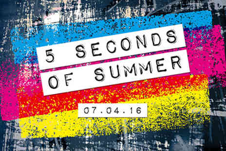 5 Seconds of Summer  - 5 Seconds of Summer Live with Dinner and Wine on 7 April 2016 - Save 0%