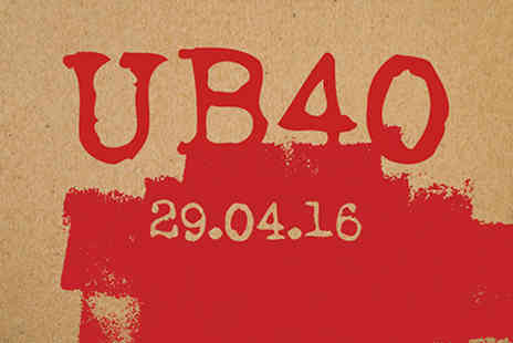 The Pearson Room - UB40 Live with Dinner and Wine for Two On 29 April 2016 - Save 0%