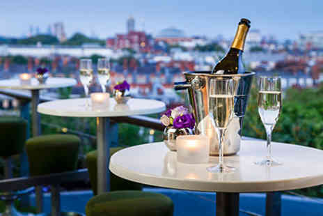 Rooftop Club -  Three Course Dinner and Wine for Two plus entrance  - Save 0%