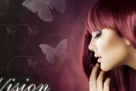 Vision Hairdressing & Beauty - Full Head Highlights Plus Cut and Condition - Save 63%