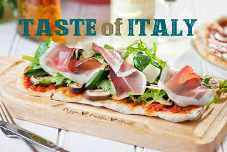 Bella Italia -Two course meal for two, four or six with a glass of wine each  - Save 51%