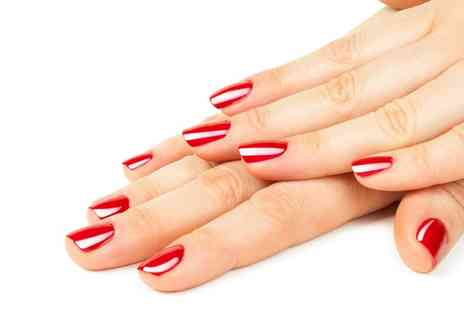 Shock Nails - Pamper Package for Hands or Feet with Shellac or Gel Polish  - Save 54%