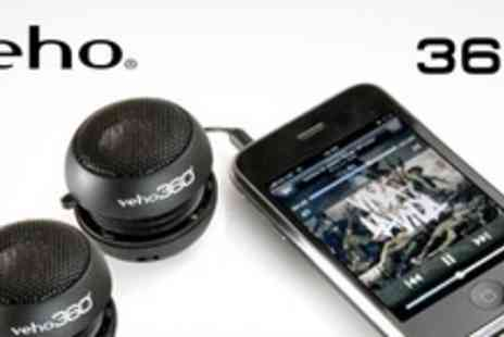 Veho - Portable Capsule Speakers in Sets of Two - Save 65%