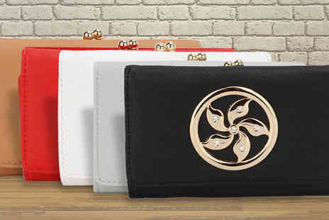 Trendy Look - Floral Embossed Wallet Available in five Colours - Save 69%