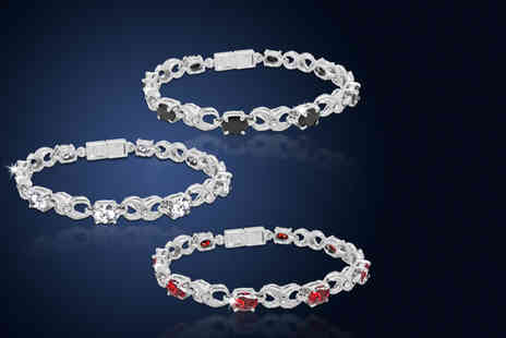 Cian Jewels - Infinity tennis bracelet made with Swarovski Elements  - Save 90%