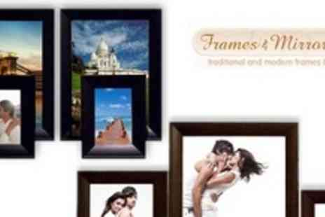 Frames & Mirrors 4 U - Photo Frame Sets in Choice of Sizes and Finishes - Save 52%