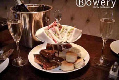 The Bowery Bar & Restaurant - Afternoon Tea with Prosecco for Two - Save 56%