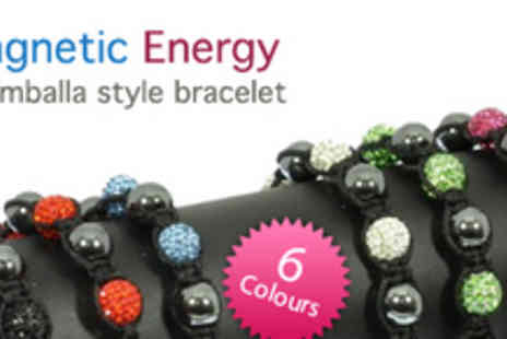 Gifts 4 U - Magnetic Shamballa style Energy Bracelet in Choice of Six Colours - Save 82%