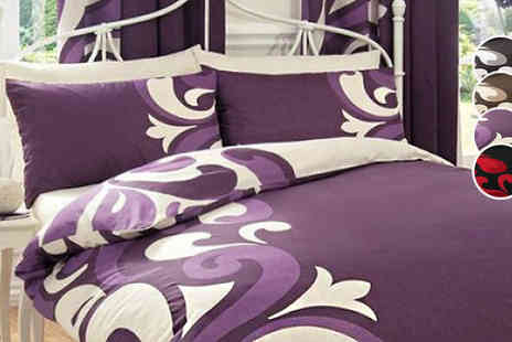 luxury bed and warehouse - Grandeur Duvet, Pillow Case and Quilt Set Available in Four Colours And Four Sizes - Save 68%