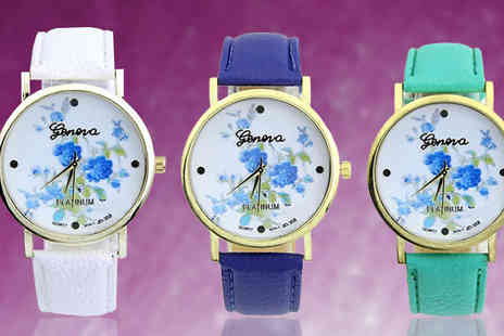 Bentleys Bargain Warehouse - Floral Analogue Watch Available in Three Colours - Save 40%