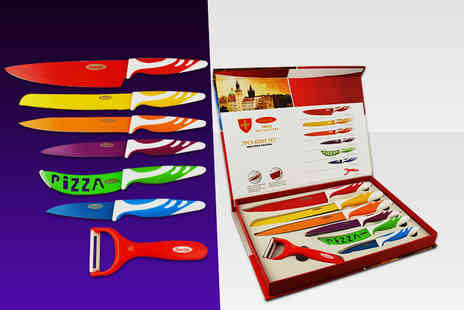 Zoozio - Seven piece multi coloured kitchen culinary set - Save 82%