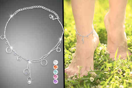 Cian Jewels - Crystal drop anklet  - Save 83%