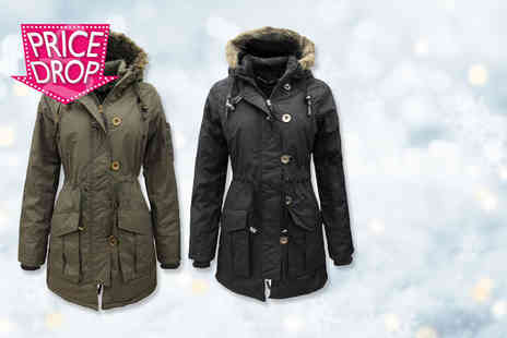 Nothing New 2 Wear - Ladies plus size military style parka jacket   - Save 78%