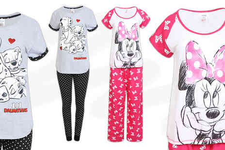 Stitch Trading  - Pair of womens branded pyjamas in a choice of six designs - Save 63%