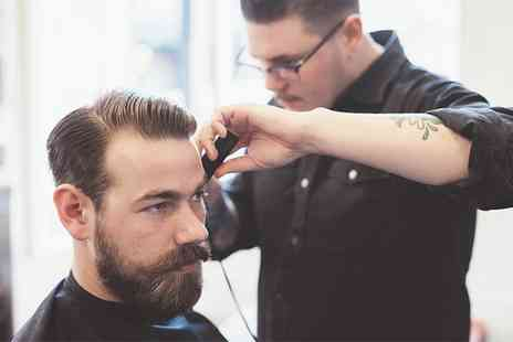 The Dandy Gent - Hair Wash, Cut and Style with £10 Toward The Stock and Either Beard Styling or a Wet Shave -  Save 51%