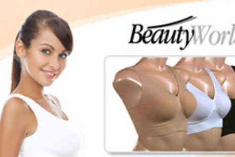 Beauty World Online - Revolutionise your lingerie drawer with three Freedom bras for just £19.99 - Save 67%