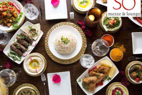 So Mezze and Lounge - Six Mezze Dishes for Two with Glass of Wine - Save 53%