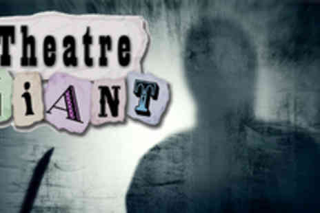Theatre Giant - Two murder mystery evening tickets, including a 3 course dinner & drinks - Save 50%